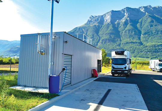 Station Service Carburant Camion Blocalps